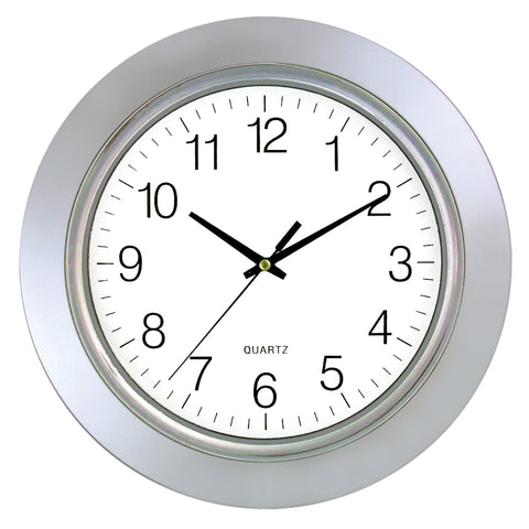 Clock Silver Frame Chrome Bezel