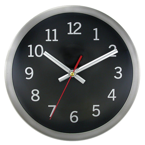 Clock Brushed Metal Rim
