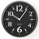"9"" Diameter Simple Round Wall Clock, Black"