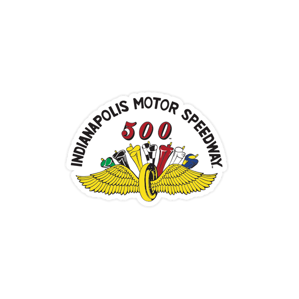 IMS Wing & Wheel Flags Retro Sticker