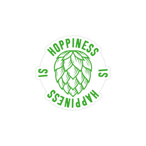 Hoppiness Is Happiness Sticker