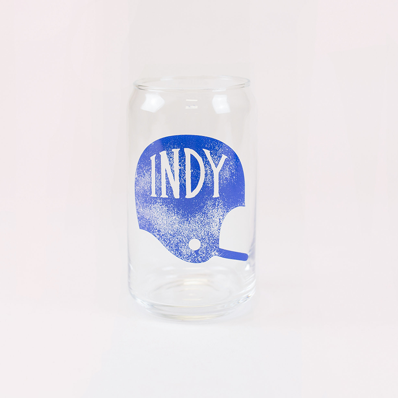 Indy Football Glass