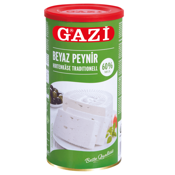 "Gazi Traditional Salad Cheese ""Beyaz Peynir"" 60% - 800gr net  **** deliveries : GTA only **** - Turkish Mart"