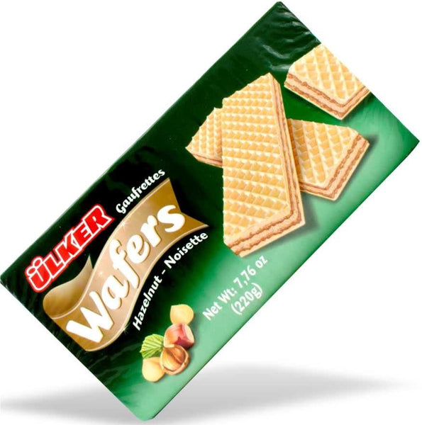 Ulker Wafers Hazelnut - 220g - Turkish Mart