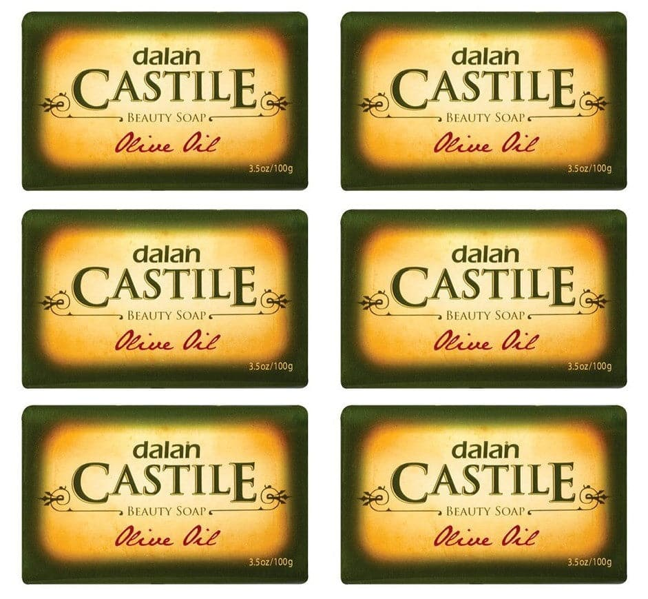 DALAN Castile Beauty Soap - Olive Oil (Pack Of 6) - 6X100g - Turkish Mart
