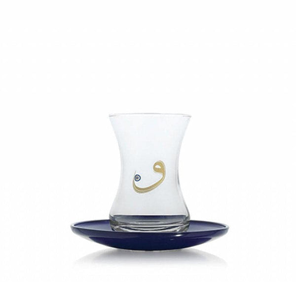 LAV Tea Set Vav Evil Eye 4 oz - Turkish Mart