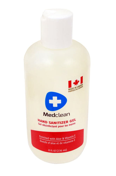 "Medclean Hand Sanitizer Gel ""with Aloe and Vitamin E"" - 236ml - Turkish Mart"