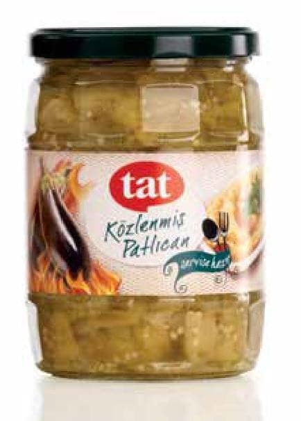 "Tat Roasted Eggplant ""kozlenmis patlican "" - 520g- GLASS - Turkish Mart"