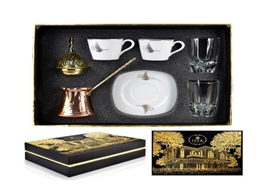 Copper Coffee Pot Gift Set big - Turkish Mart
