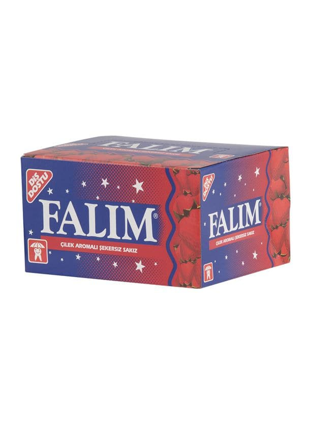 Falim - Strawberry Flavored Gum (100 pieces) - Turkish Mart