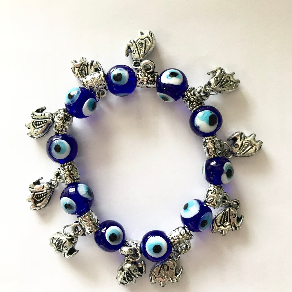 Evil Eye Bracelet (Elephants) - Turkish Mart
