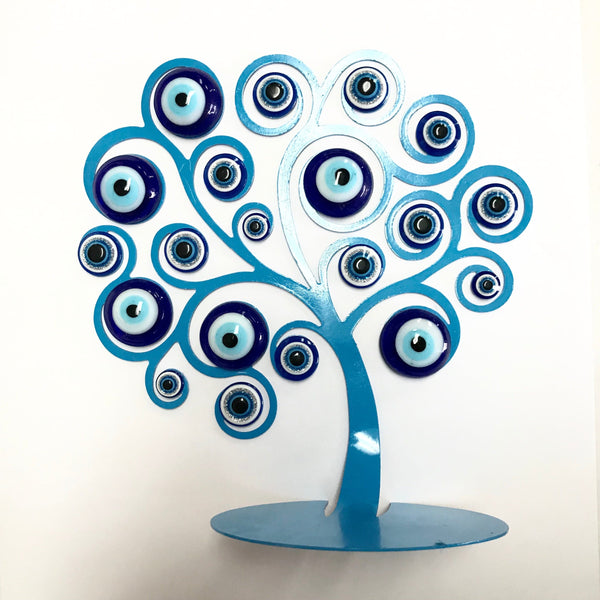 Evil Eye Flat Tree - Turkish Mart