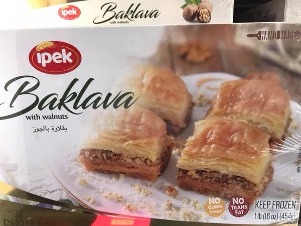 "Ipek Baklava with Walnuts ""cevizli baklava""  454g - FROZEN **** delivery : GTA ony **** - Turkish Mart"