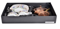 Istanbul Copper Coffee Pot Gift Set Small - Turkish Mart
