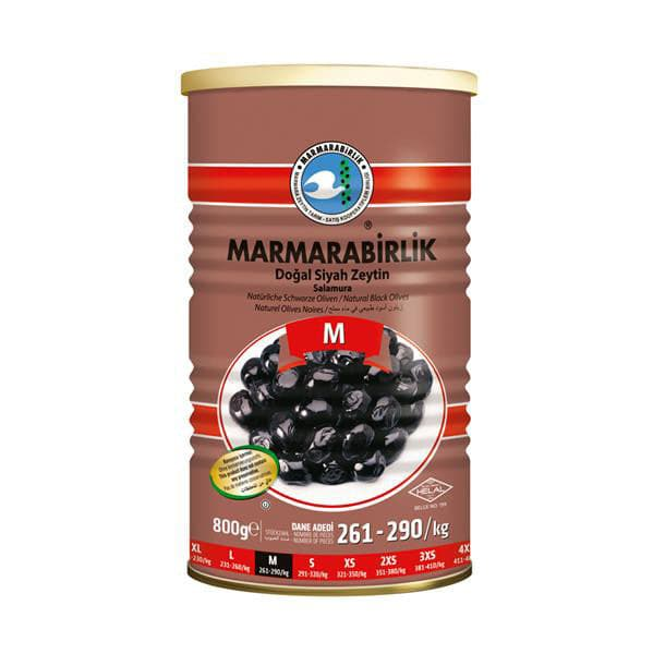 Marmarabirlik Natural Black Olives Medium caliber (M) - Turkish Mart