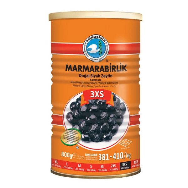 Marmarabirlik Natural Black Olives (3XS) - 800g - TIN - Turkish Mart