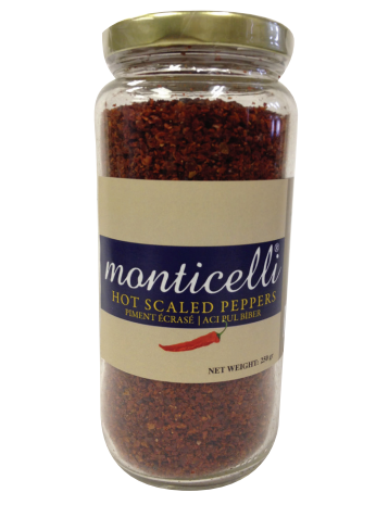 Monticelli Hot Scaled Peppers - 250g