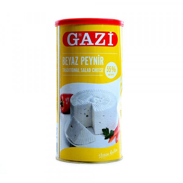 "Gazi Traditional Feta Cheese ""Beyaz Peynir"" 55% - 800gr net -  TIN **** deliveries : GTA only ****"
