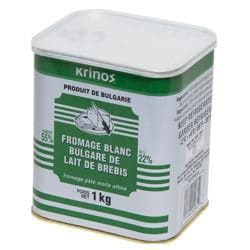 "Krinos ""Bulgarian Style"" feta cheese 1kg - TIN  **** deliveries : GTA only **** - Turkish Mart"