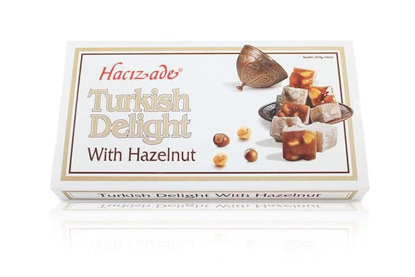 Hacizade Turkish Delight With Hazelnut - 454g - Turkish Mart