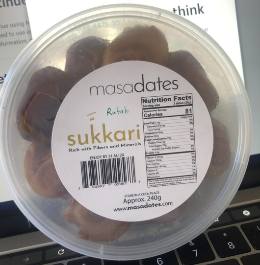 "OUT OF STOCK *** Sukkari masa dates ""HURMA"" - 240g & 480g & 960g variations- PET"