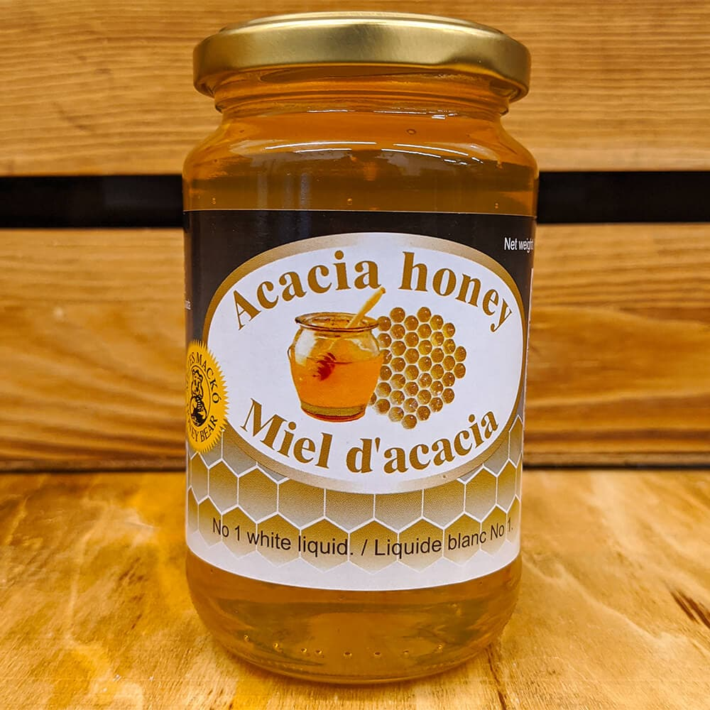 "Vintage ""Acacia Honey ""  Unprocessed - 454g - GLASS - Turkish Mart"
