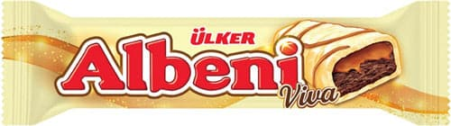 "Ulker Albeni ""white chocolate"" coated caramel and cocoa biscuits - 36 gr"