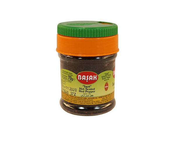 Basak Hot Scaled Red Pepper Spice Mix (Isot Biber) - 70g  pet jar