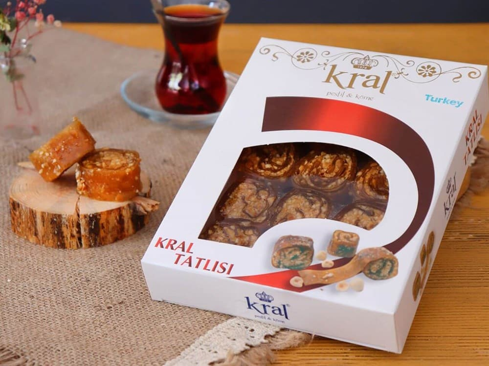 "Kral ""Kral Tatlisi"" - ""Pestil and Kome"" - Fruit Leather Dessert - 350g *** PROMOTION *** - Turkish Mart"
