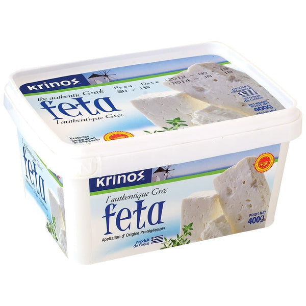 "Krinos Feta Cheese "" the authentic Greek "" - "" 400g "" & "" 1 kg. "" variations   **** deliveries : GTA only **** - Turkish Mart"