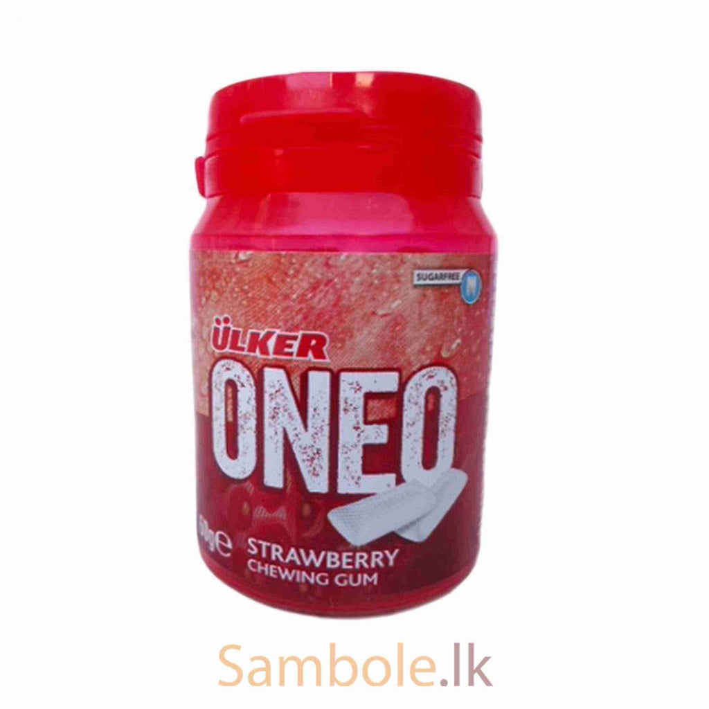 "Ulker Oneo ""Strawberry"" Chewing Gum- 60 gr - Turkish Mart"