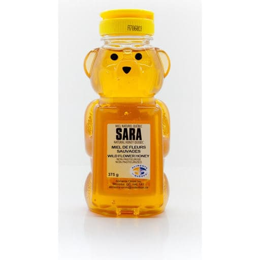 "Sara Natural Honey Quebec ""wild flower honey"" - 375g - PLASTIC - Turkish Mart"