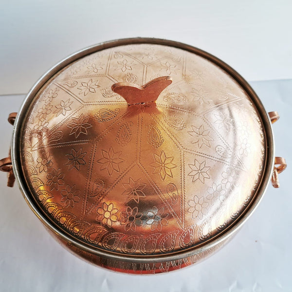 Copper Cooking Pot with decoration