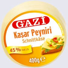 "Gazi Kashkaval cheese ""Kasar Peyniri"" 45% fat -  400g - Turkish Mart"