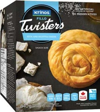 Krinos Twisters Feta and Ricotta cheese- 840g - Turkish Mart