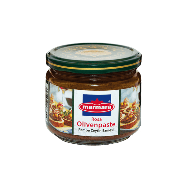 Marmara Green Olives paste with basil (ROSE)- 300gr - GLASS - Turkish Mart