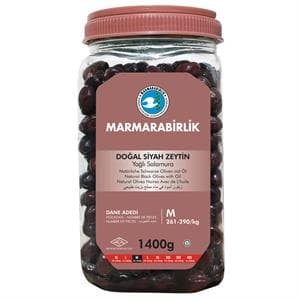 Marmarabirlik Natural Black Olives with oil (M) - 1400g -  PET - Turkish Mart