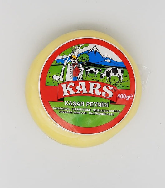 "Gazi Kars Kashkaval cheese ""Kars Kasar Peyniri"" 45% fat -  400g - Turkish Mart"