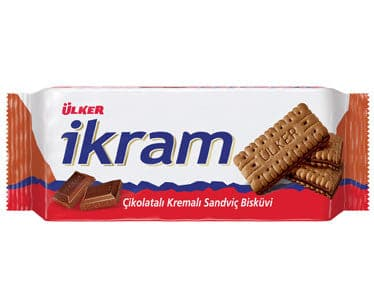 Ulker İkram Cocoa Sandwich Biscuit with Chocolate and Cocoa 93g - Turkish Mart