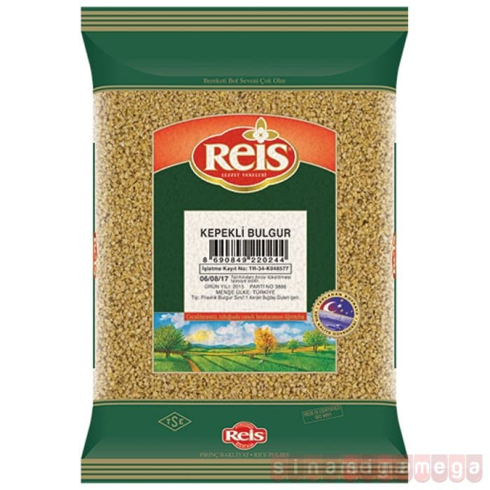 "Reis Brown Wheat for Rice "" Kepekli Bulgur ""  - 1000g - Turkish Mart"
