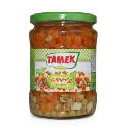 "Tamek Garniture Vegetables "" garnitur sebzeler "" - 550g - GLASS - Turkish Mart"
