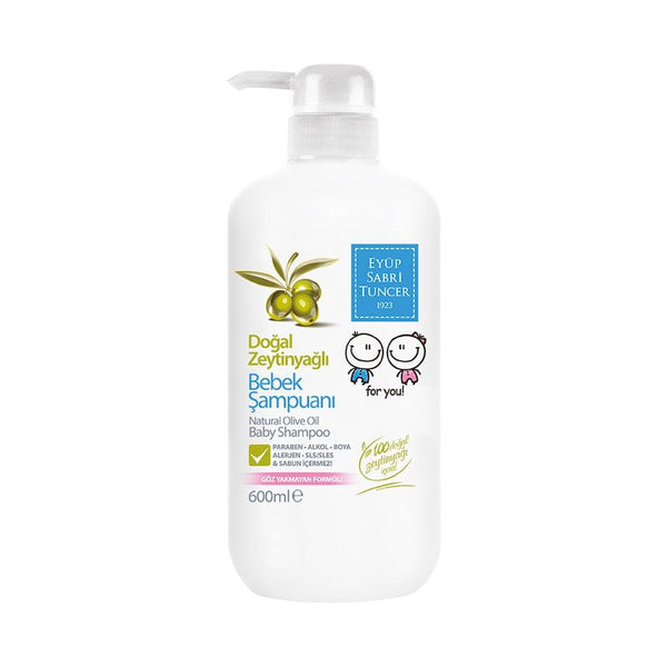 Eyup Sabri Tuncer Baby Shampoo (Natural Olive Oil) - 600ml - Turkish Mart