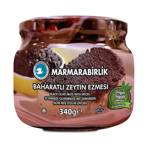 Marmarabirlik Black Olive Paste Spicy 340g