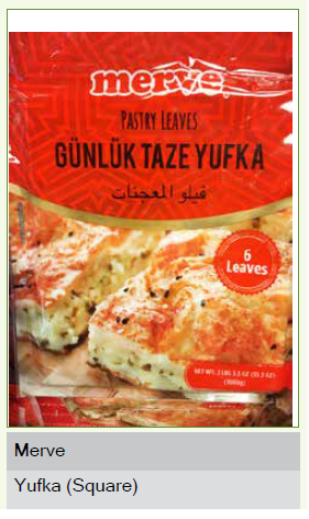 Yufka Taze  Square(Turkish style pastry leaves) 400g