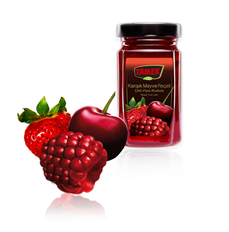 "Tamek Mixed Fruit Jam "" Karisik Meyve Receli"" - 380g - JAR - Turkish Mart"