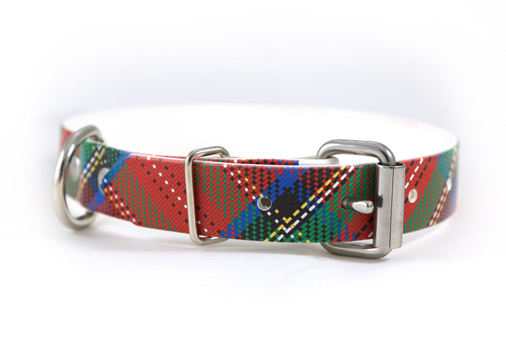 Royal Stewart Waterproof Sport Dog Collar Buckle Side
