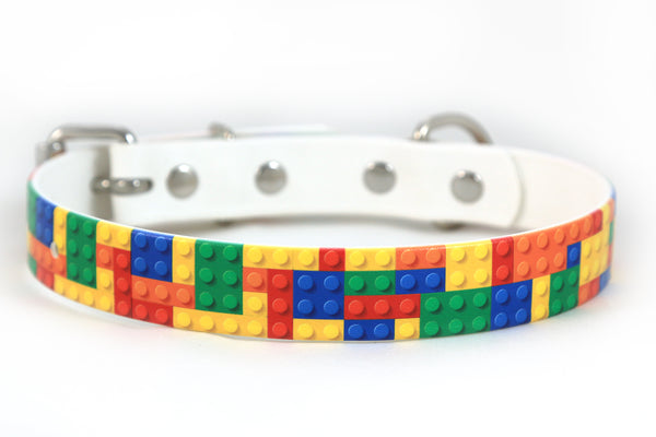 Building Blocks Waterproof Sport Dog Collar