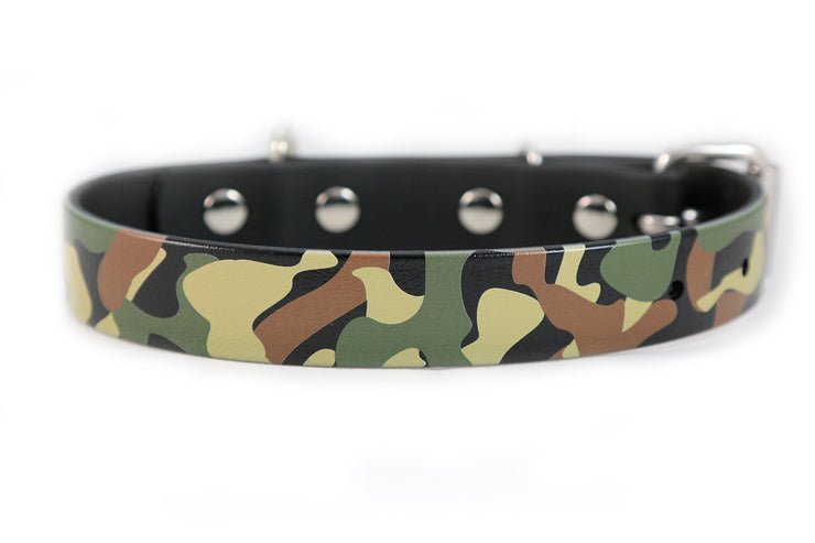 Camouglage Waterproof Sport Dog Collar - 1 inch