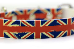 Waterproof Dog Collar - British Flags on 1 inch Biothane