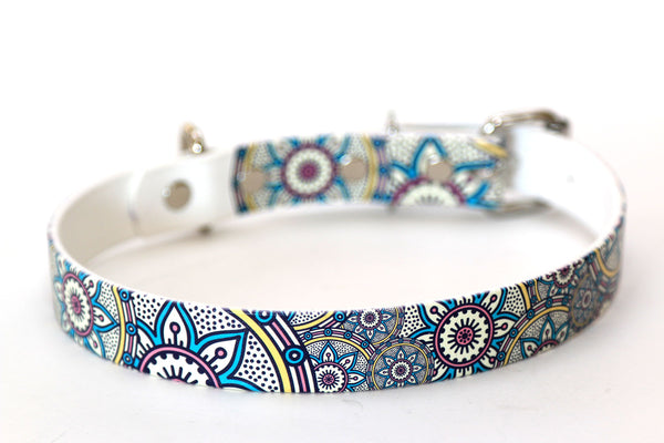 Waterproof Dog Collar - Henna Design - 1 Inch